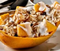 postre de mango saludable