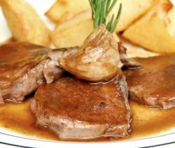 Filete de res con salsa de whisky