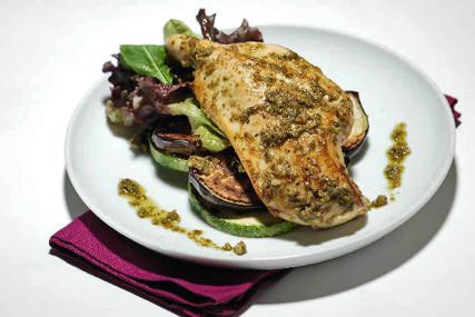 Parrillada de pollo con hortalizas
