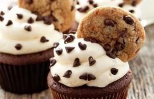 Cupcakes de Chocolate y Galletas