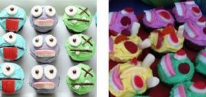 Cupcakes de monstruos