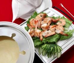 Fondue de carne y camarón (chinoise)