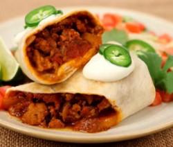 Burritos de chili con carne