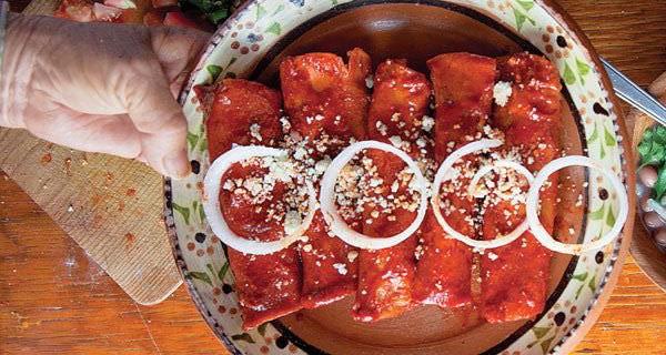 Enchiladas estilo Aguascalientes